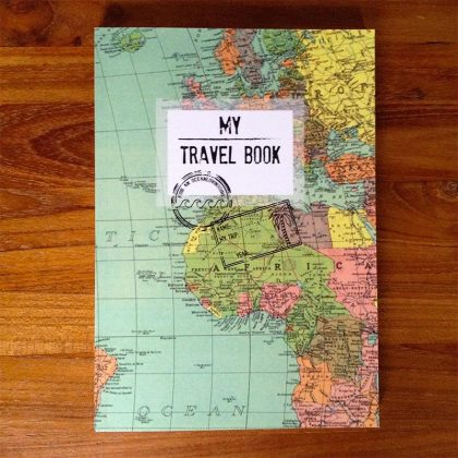 travel book front