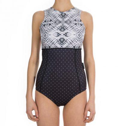 laguna suit batik dots back